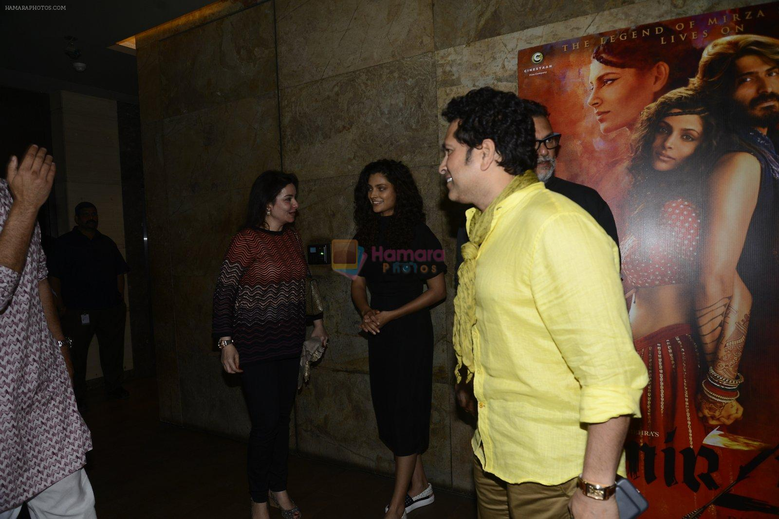 Sachin Tendulkar, Rakesh Mehra, Saiyami Kher at Mirzya screening on 11th Oct 2016