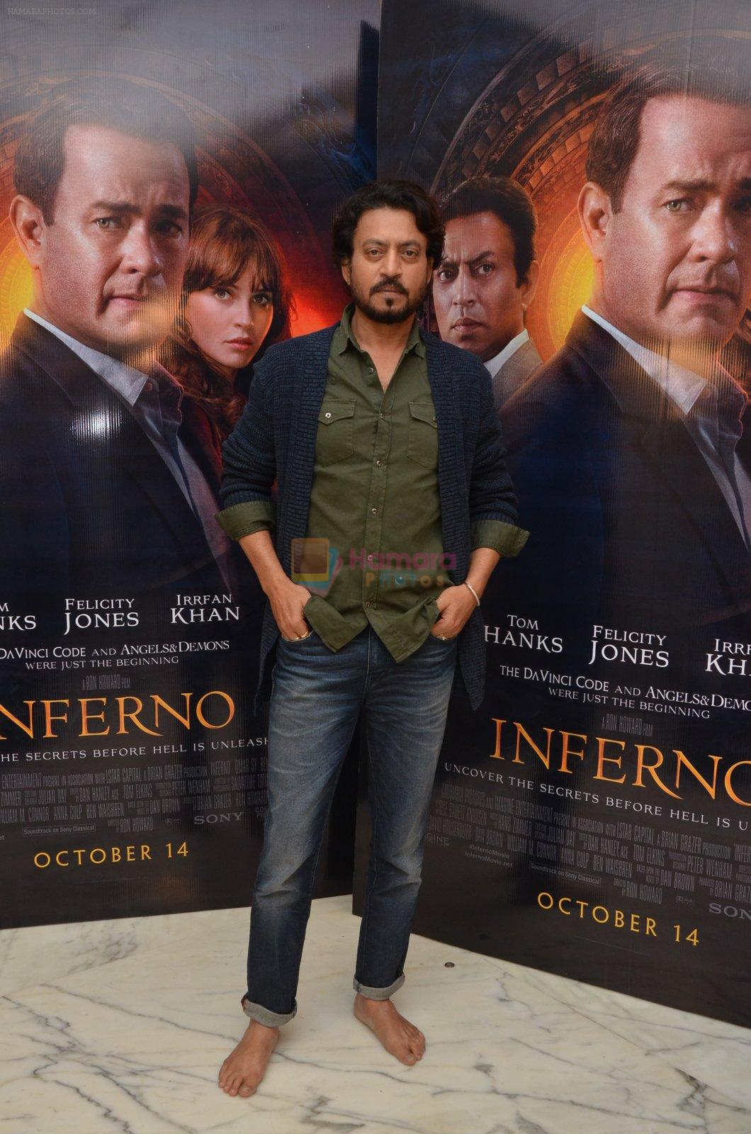 Irrfan Khan at Inferno premiere on 12th Oct 2016