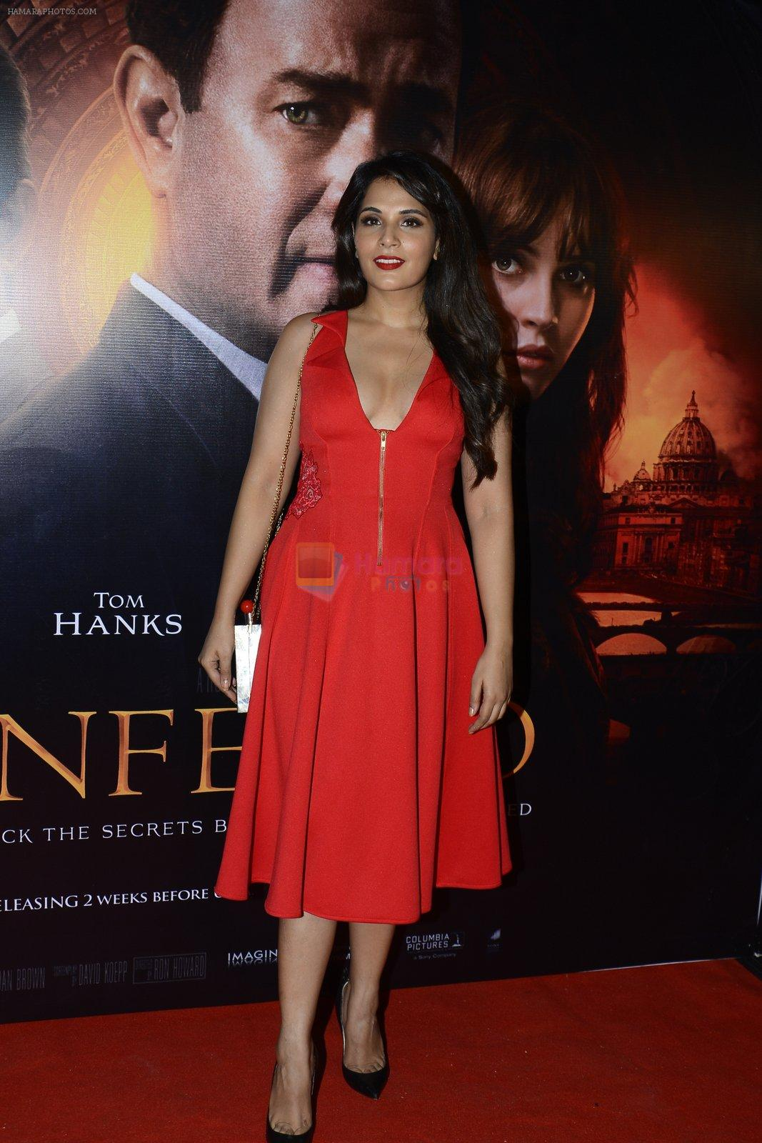 Richa Chadda at Inferno premiere on 12th Oct 2016