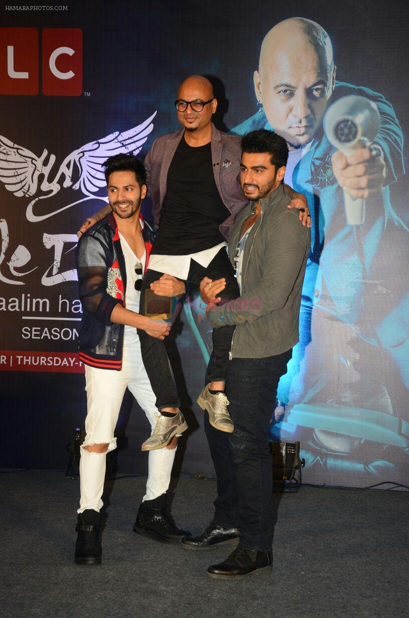 Arjun Kapoor and Varun Dhawan andduring the launch of new season of Style Inc on TLC network in Mumbai on 13th Oct 2016