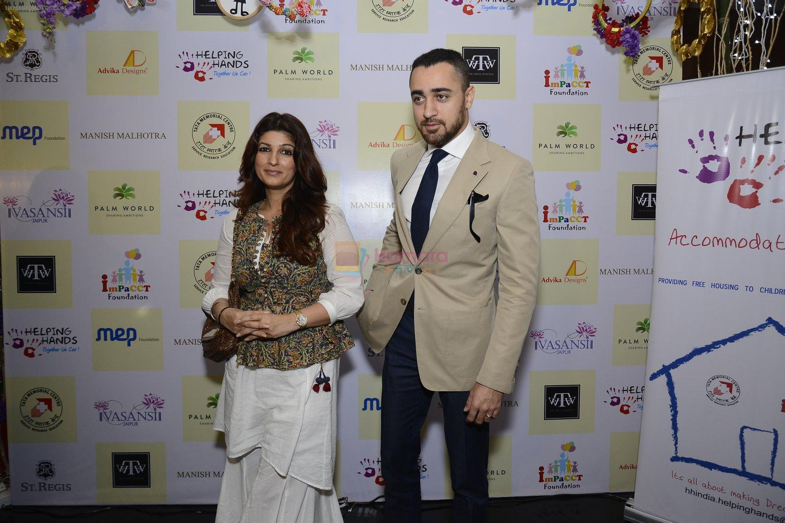 Twinkle khanna and Imran khan inaugurate helping hands exhibition in st regis on 13th Oct 2016