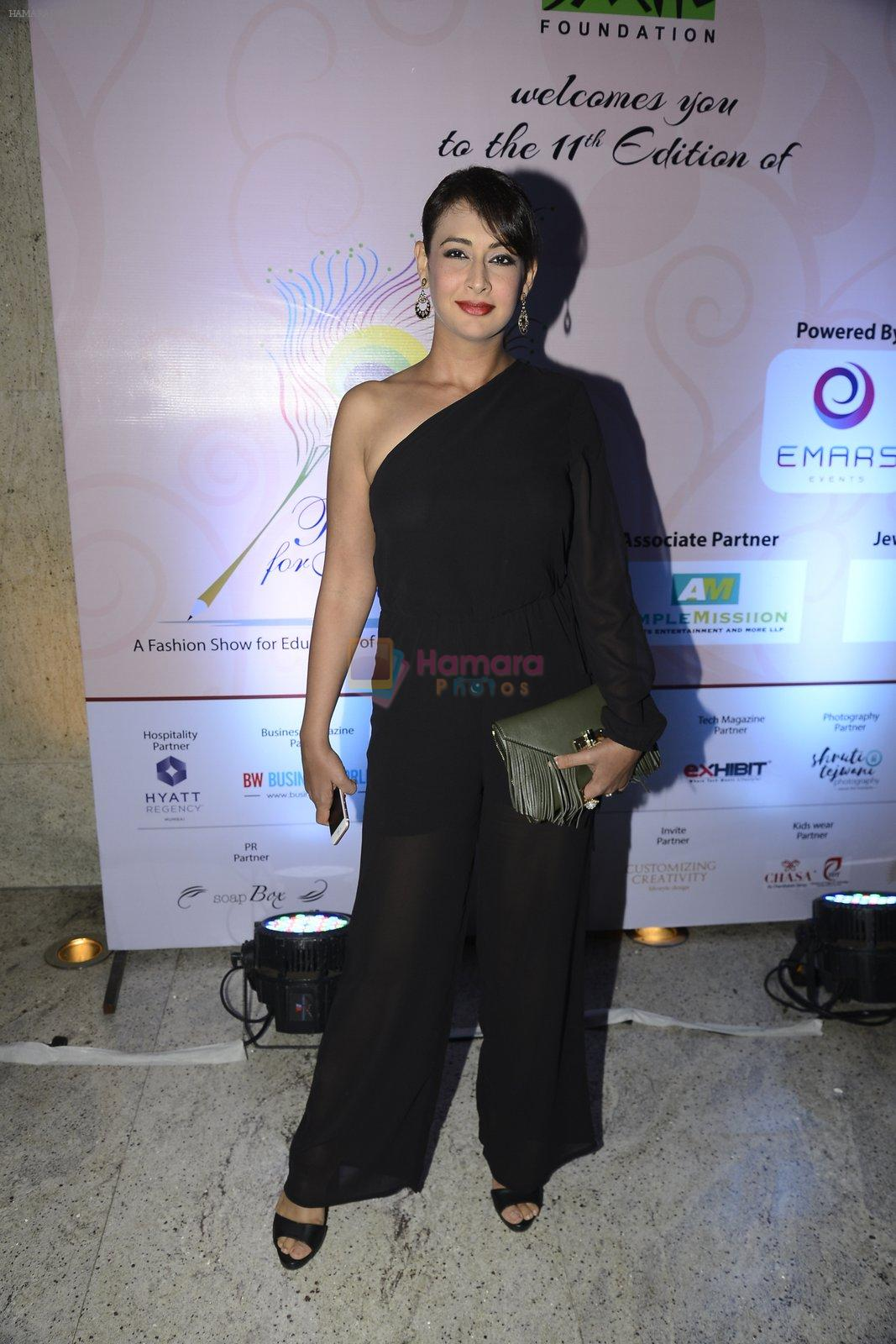 Preeti Jhangiani at Smile Foundation charity fashion show on 13th Oct 2016