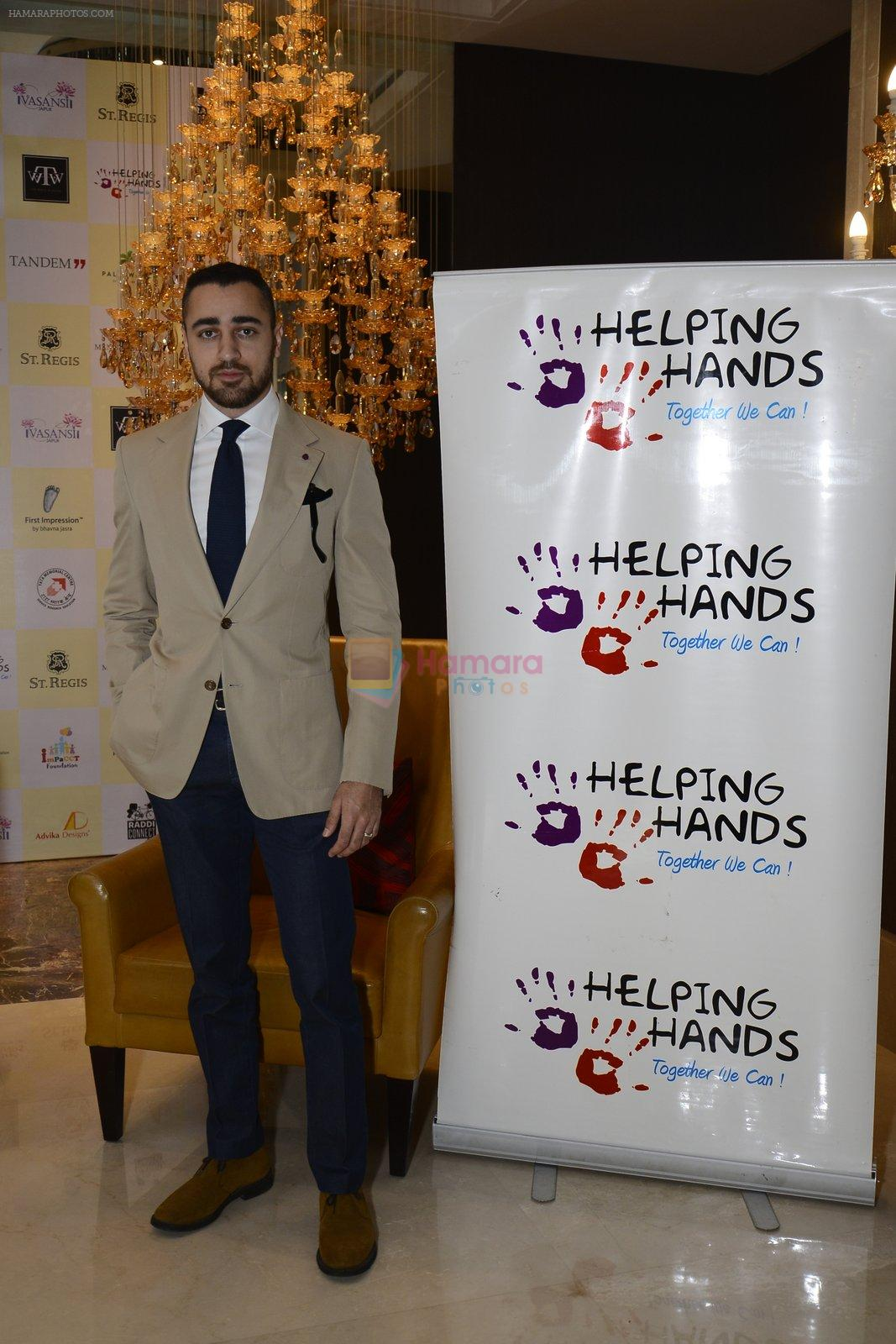 Imran khan inaugurate helping hands exhibition in st regis on 13th Oct 2016