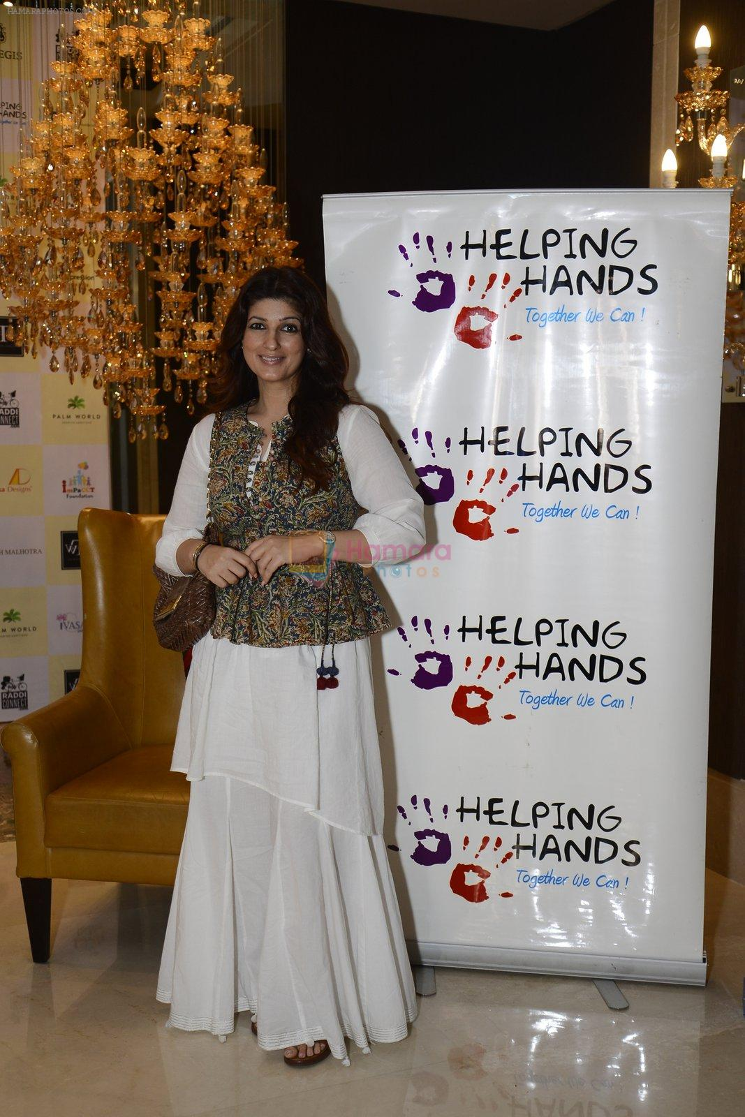 Twinkle khanna innaugurate helping hands exhibition in st regis on 13th Oct 2016
