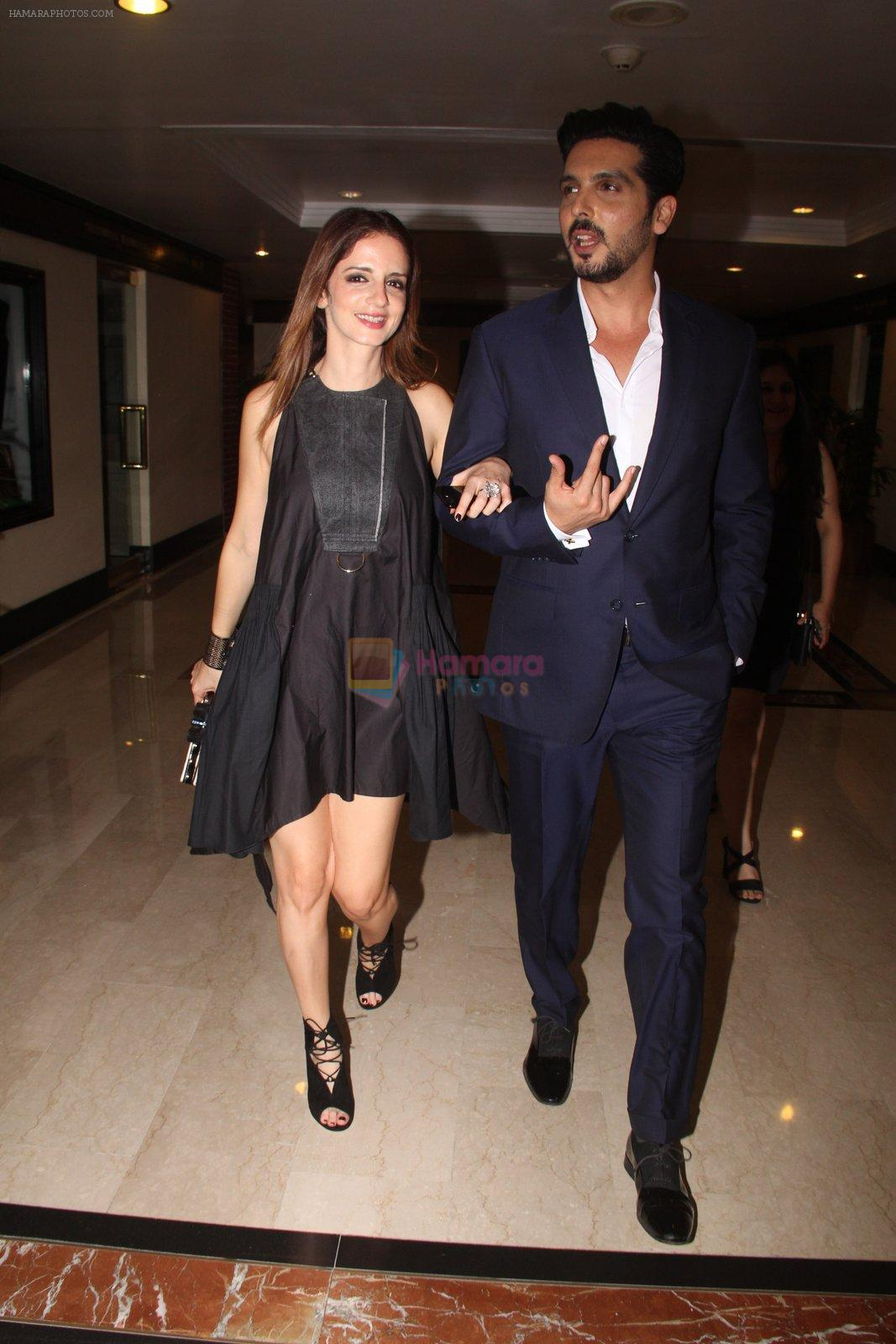 Suzanne Khan, Zayed Khan snapped at lobby of Trident for ET Panache trend setters awards on 14th Oct 2016