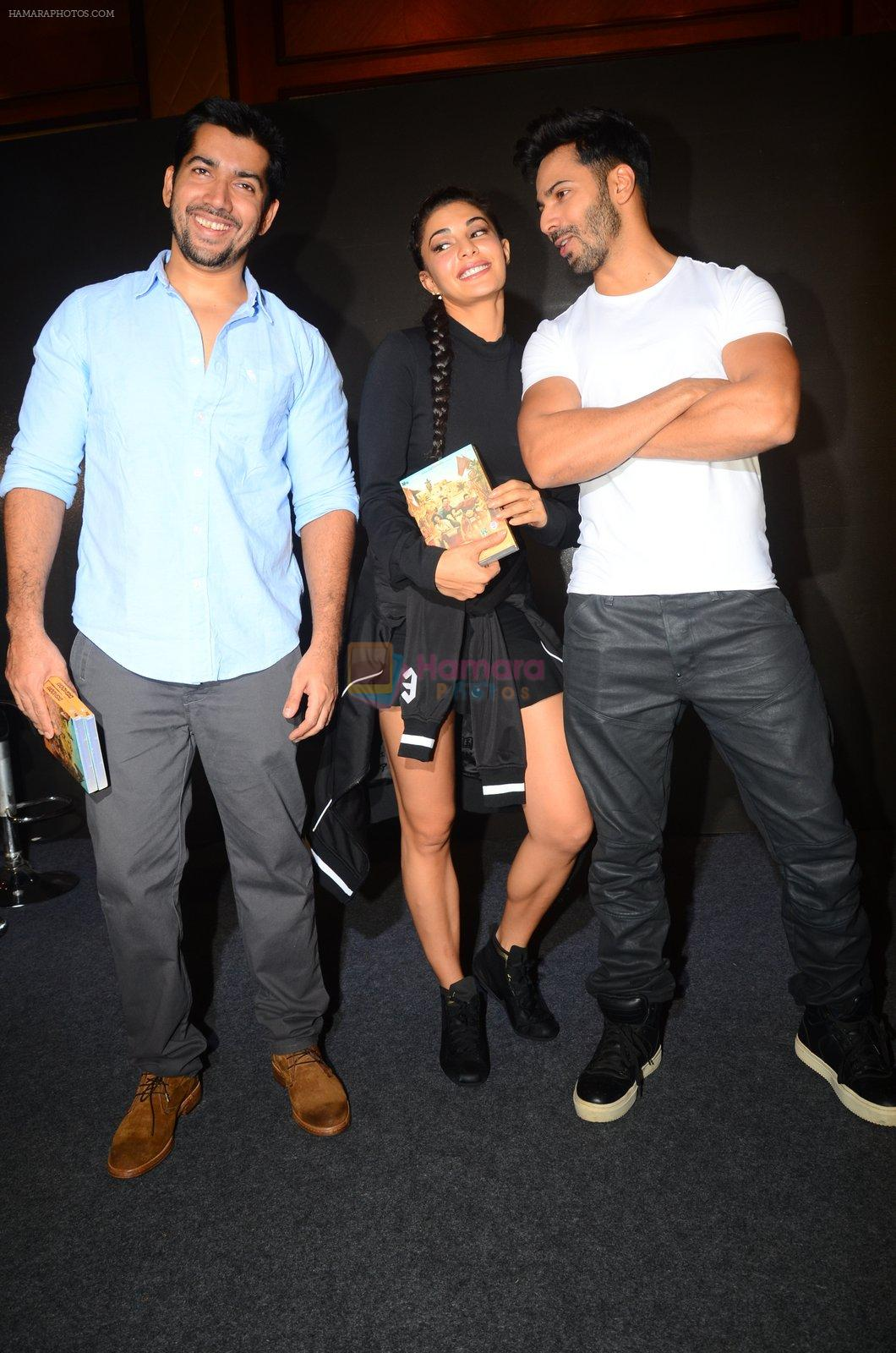 Rohit Dhawan, Jacqueline Fernandez, Varun Dhawan during the success party of the film Dishoom on 14th Oct 2016