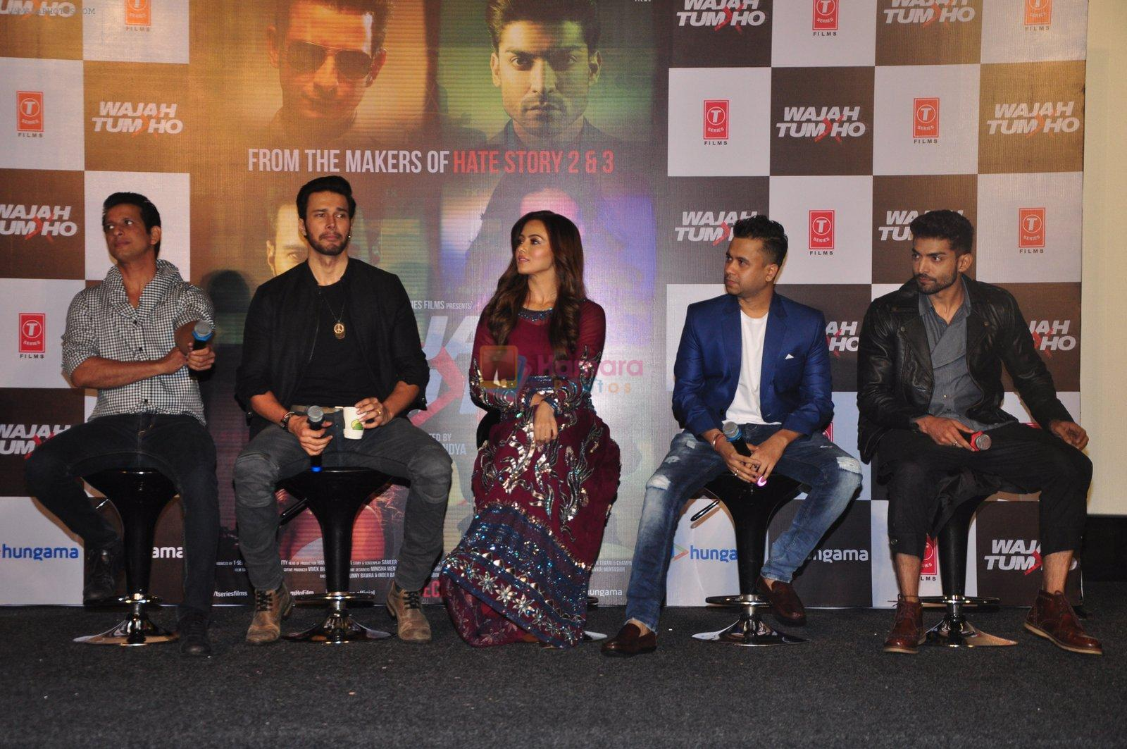 Sana Khan, Sharman Joshi, Rajneesh Duggal, Vishal Pandya, Gurmeet Choudhary at Wajah Tum Ho film event on 14th Oct 2016