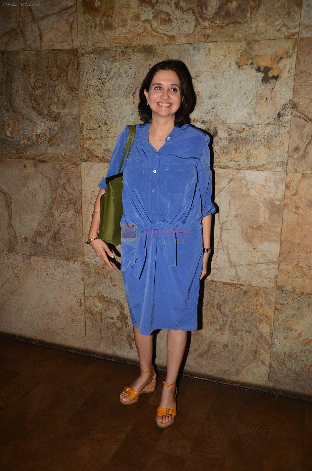 Anupama Chopra snapped at the screening in lightbox on 14th Oct 2016