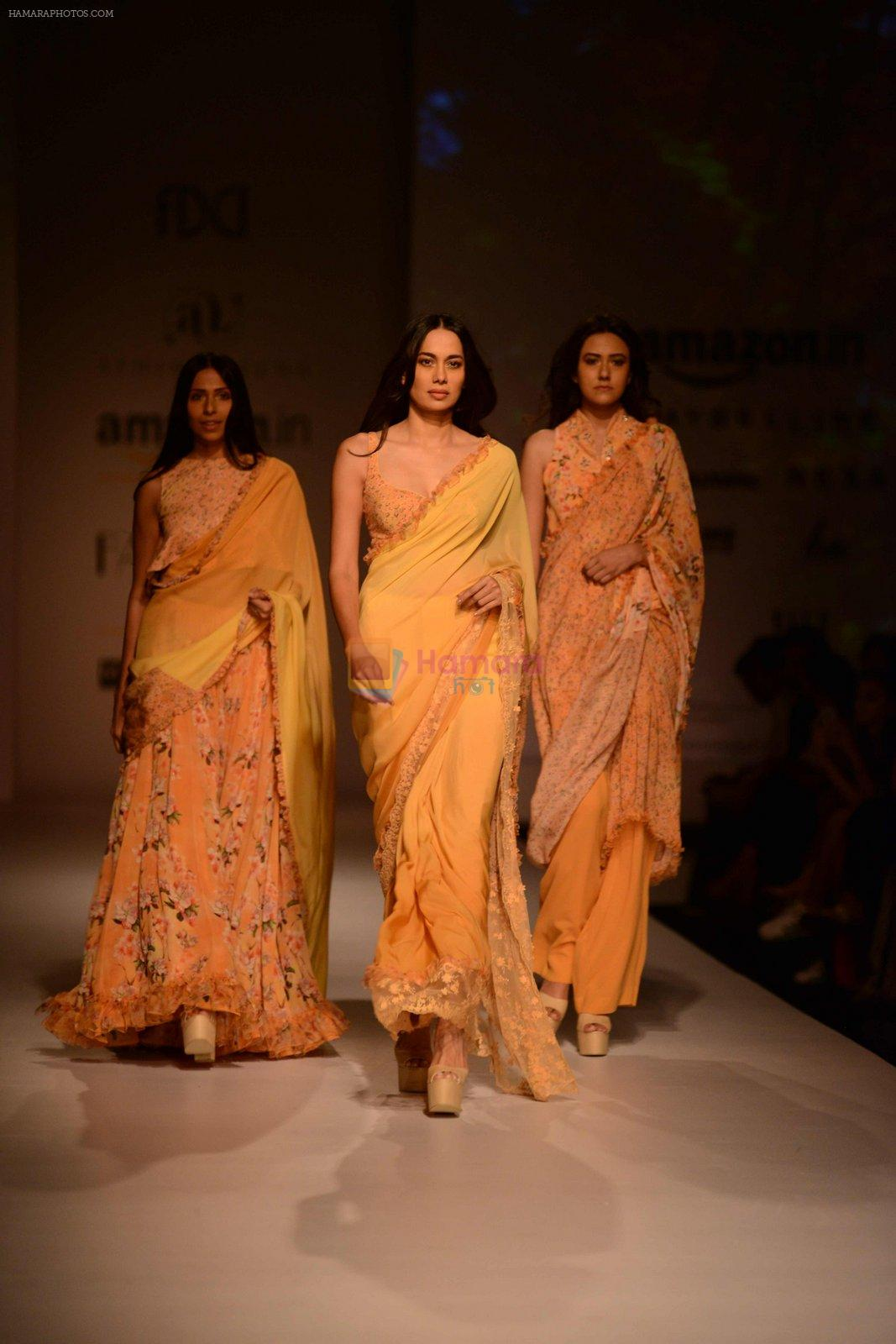Model walk the ramp for Asheema Leena show on day 2 of AIFW on 14th Oct 2016