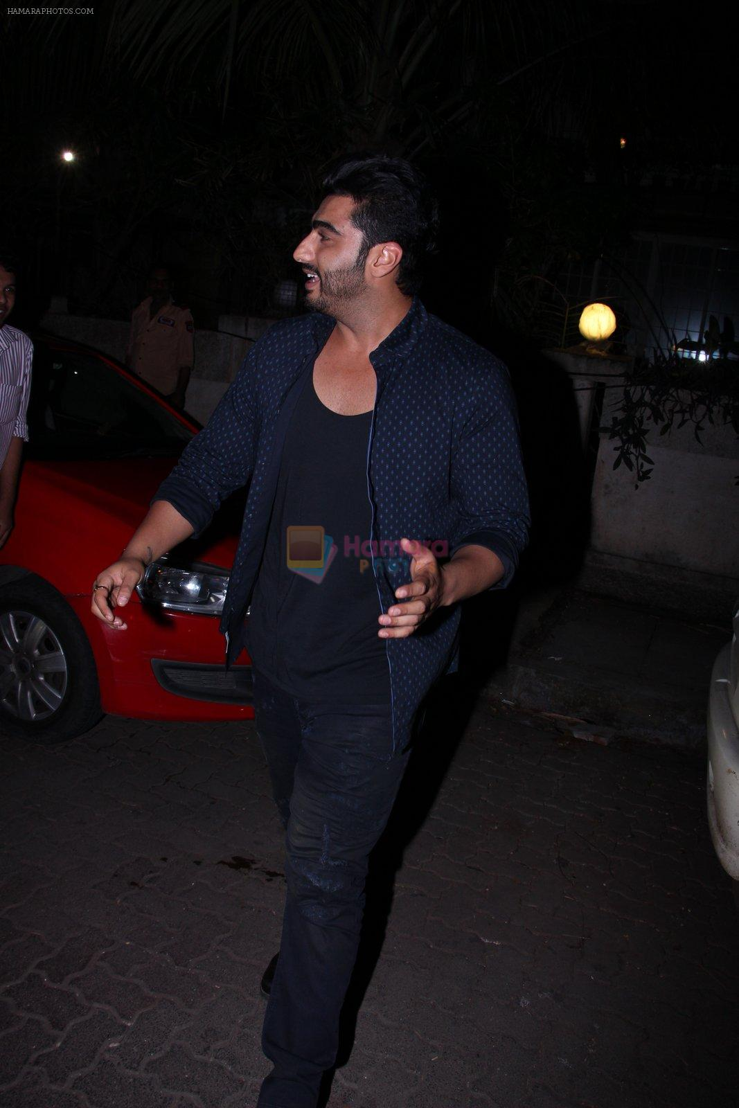 Arjun Kapoor snapped with Badshah on 14th Oct 2016