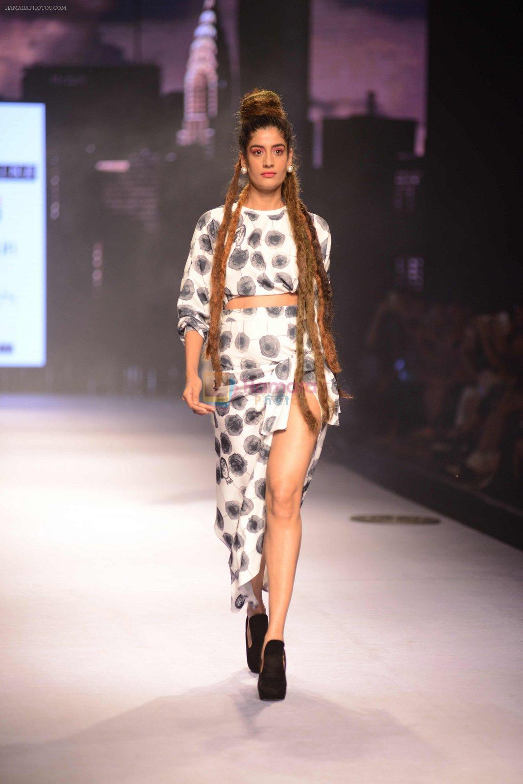 Model walks for Masaba at Amazon India Fashion Week on 15th Oct 2016