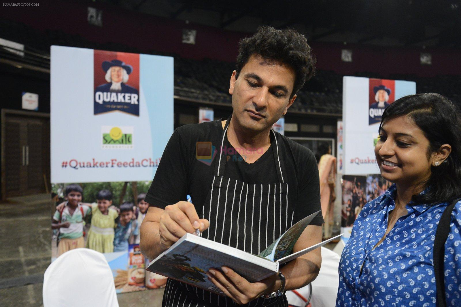 Vikas Khanna for world food day event by smile foundation at Quaker on 16th Oct 2016
