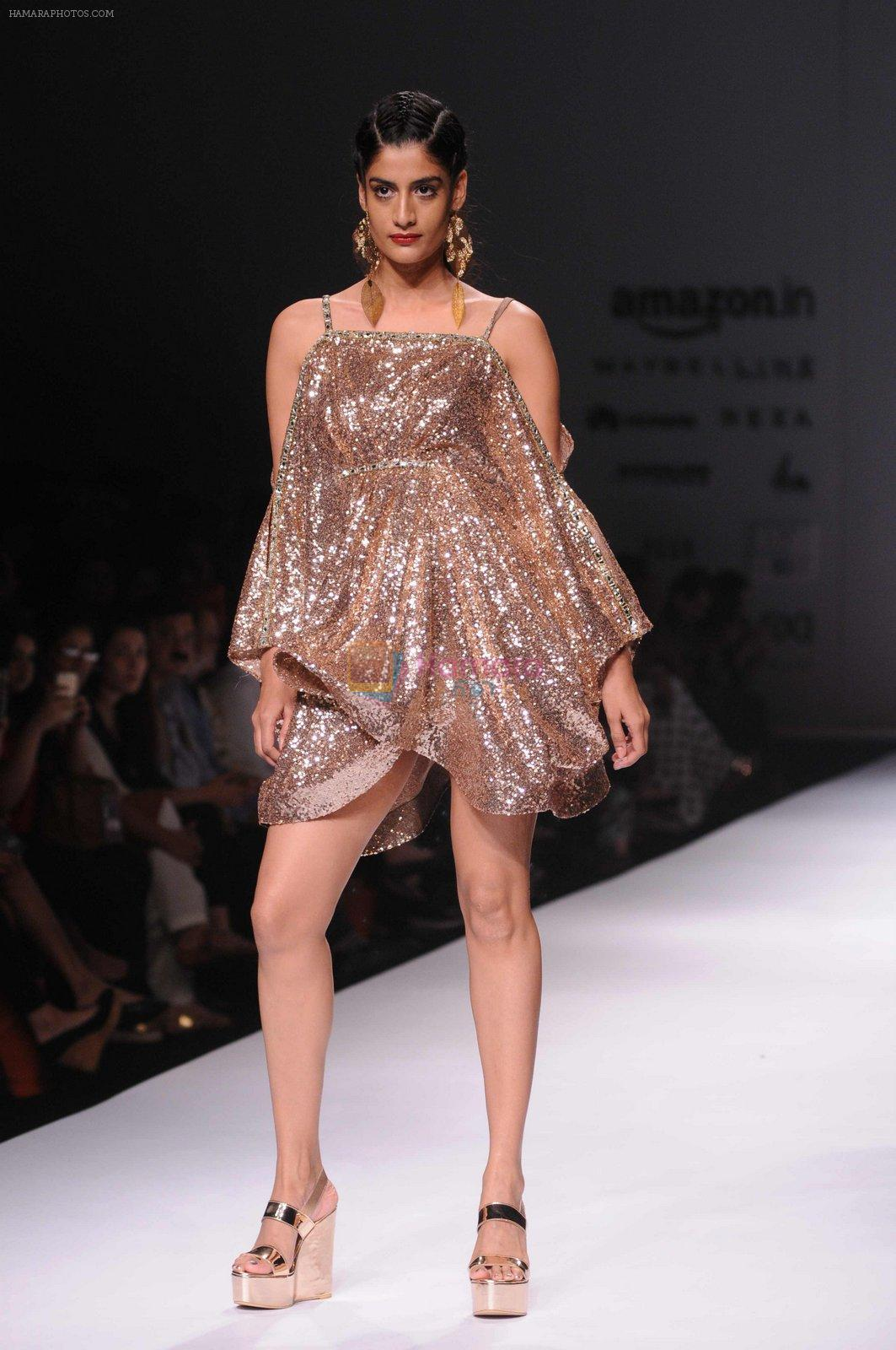 Model walk the ramp for Pria Kataria's show at Amazon India Fashion Week on 15th Oct 2016