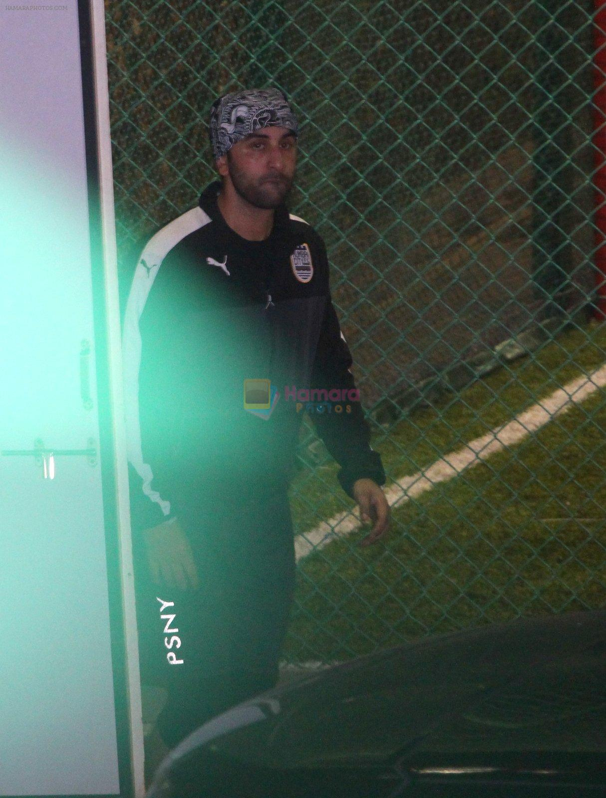 Ranbir Kapoor snapped post soccer match on 16th Oct 2016