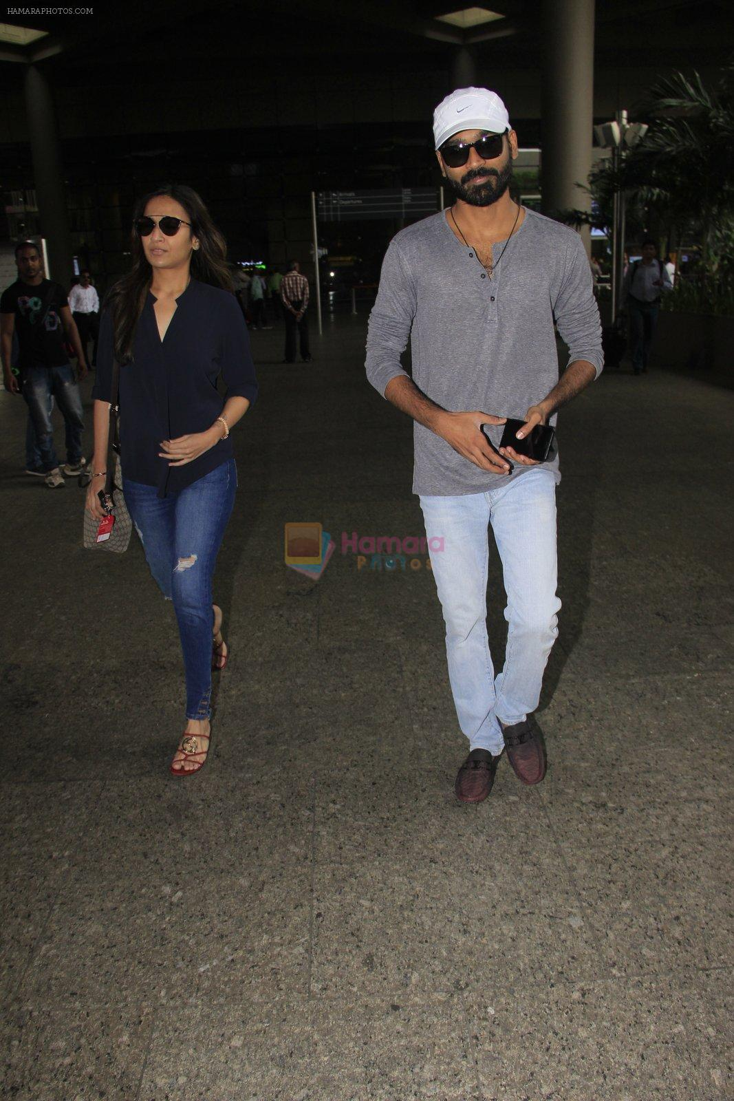 Dhanush snapped at airport on 16th Oct 2016