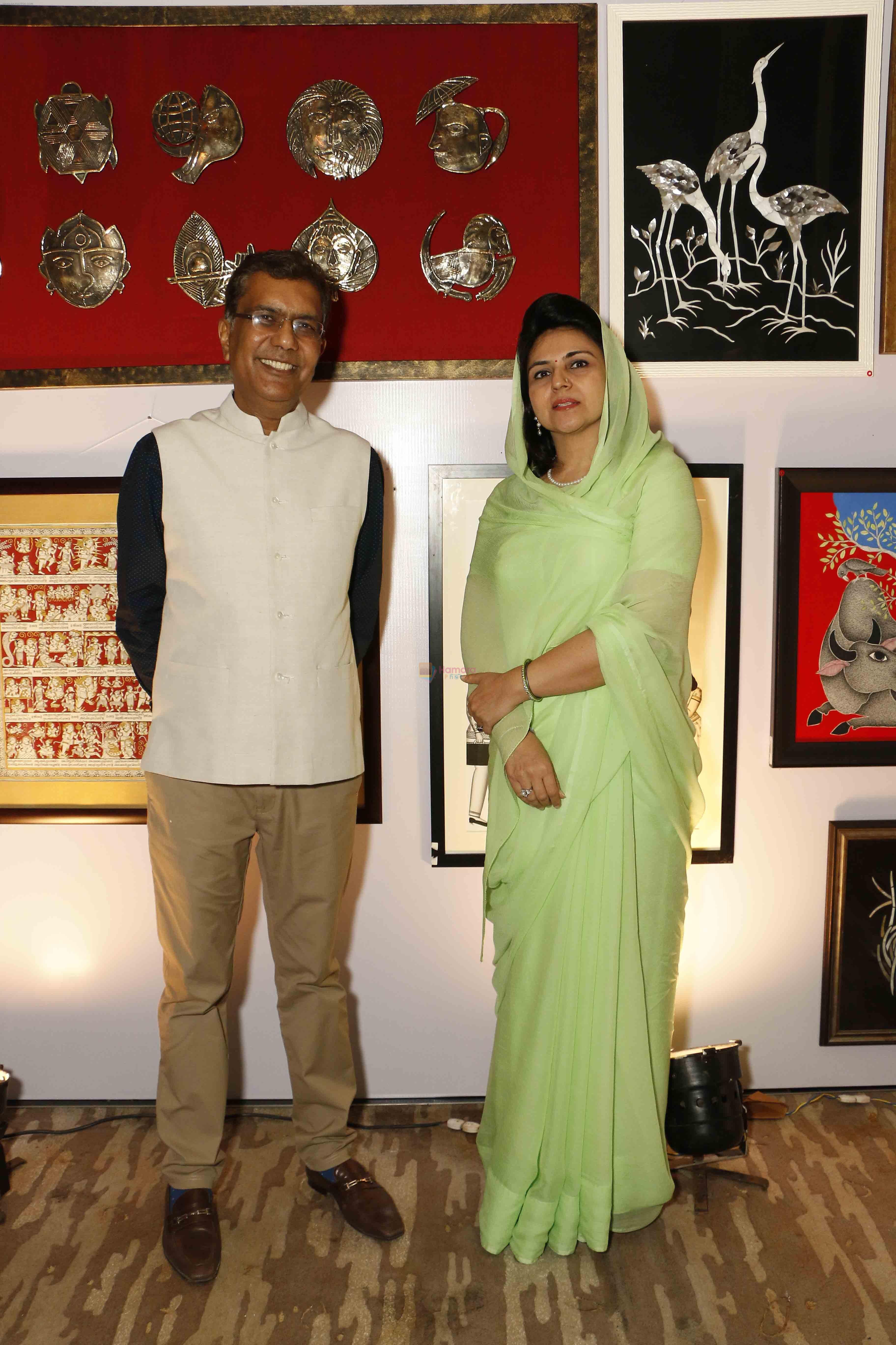 Vipul Jain with Maharajkumari Mahima Kumari at CSA Fund raising event on 18th Oct 2016