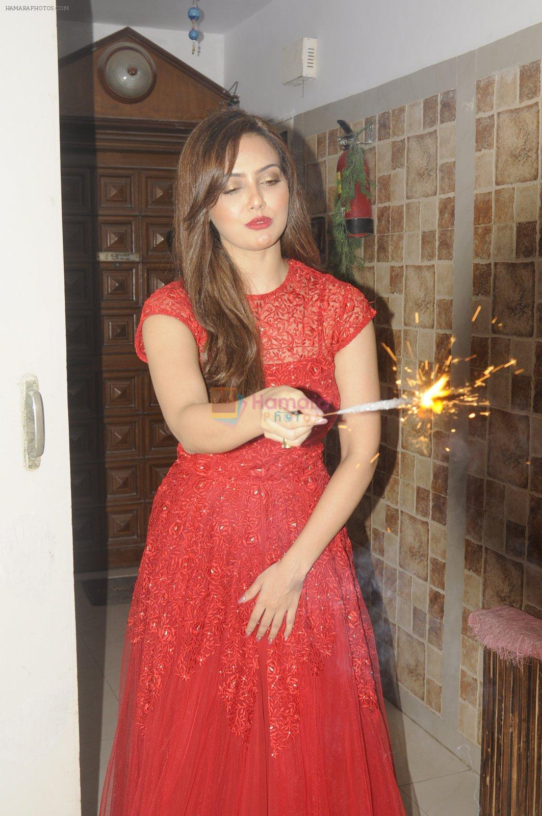 Sana Khan Diwali shoot on 18th Oct 2016