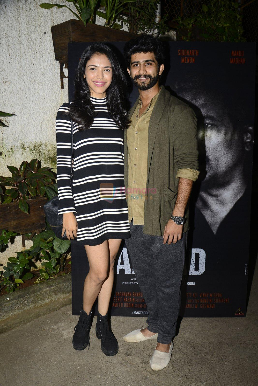 Siddharth Menon and Shriya Pilgaonkar at Azaad film screening on 18th Oct 2016
