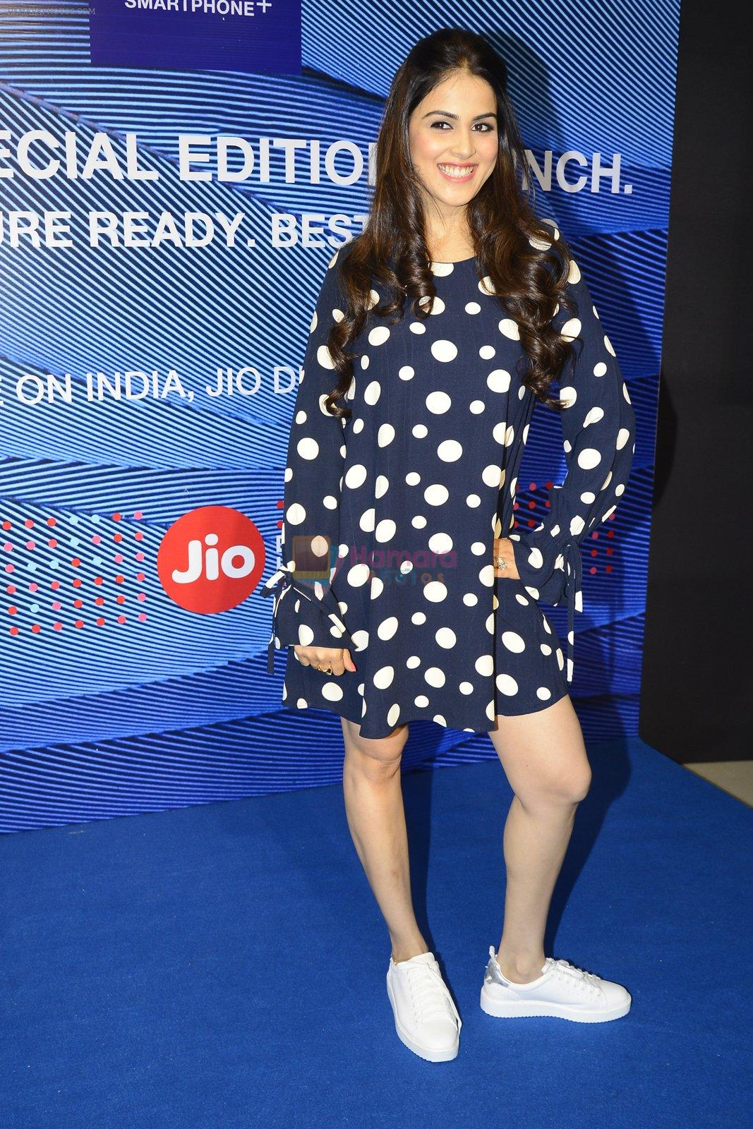 Genelia D'souza launches Reliance Jio special edition Lyf F1 smartphone on 21st Oct 2016