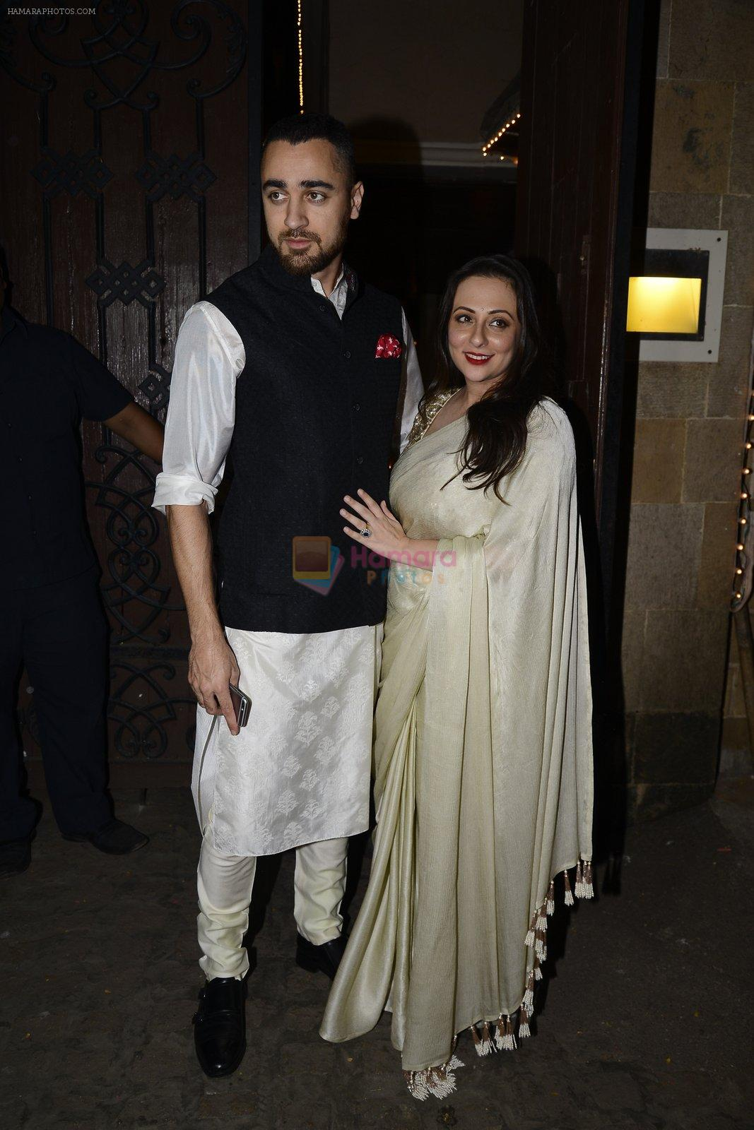 Imran Khan, Avantika Malik at Anil Kapoor's Diwali bash on 30th Oct 2016