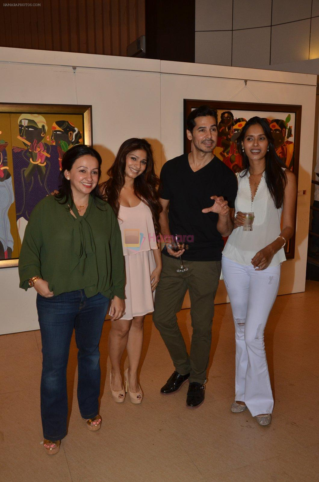 Dino Morea at Thota Vaikuntam art show hosted by India Fine Art on 15th Nov 2016