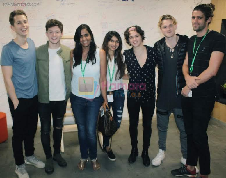 The Vamps jam with Miss Malini on 16th Nov 2016