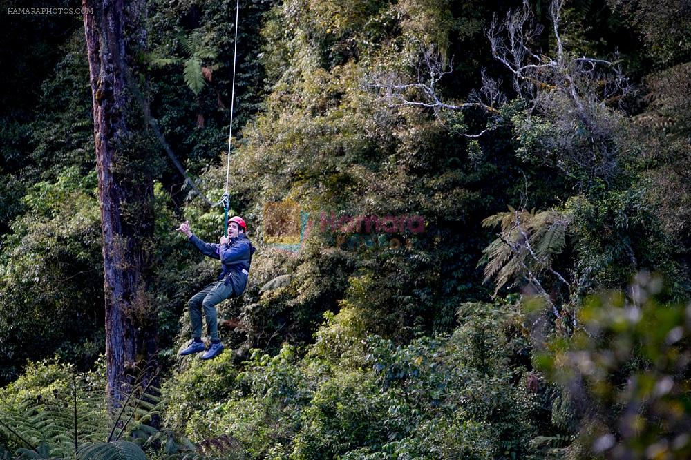 Sidharth experiencing the thrill of ziplining in New Zealand 3
