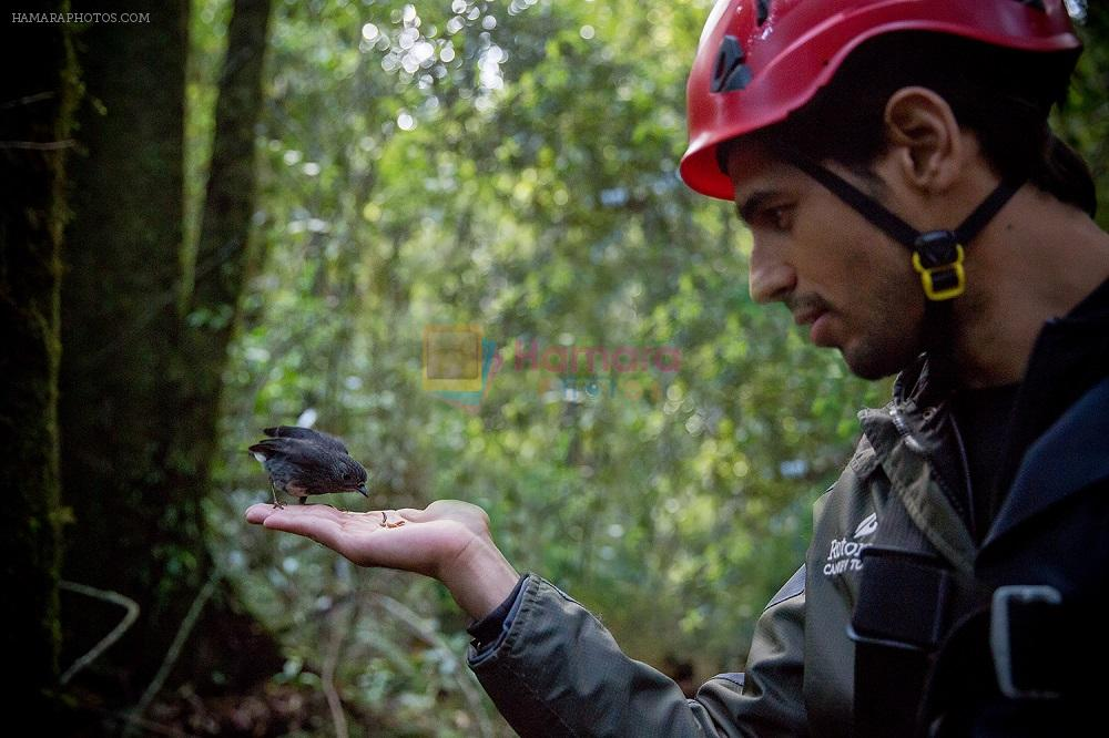 Sidharth made a new friend while Zip Lining