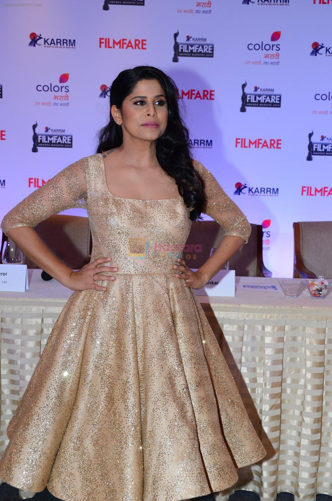 Sai Tamhankar at Marathi Filmfare press meet on 16th Nov 2016