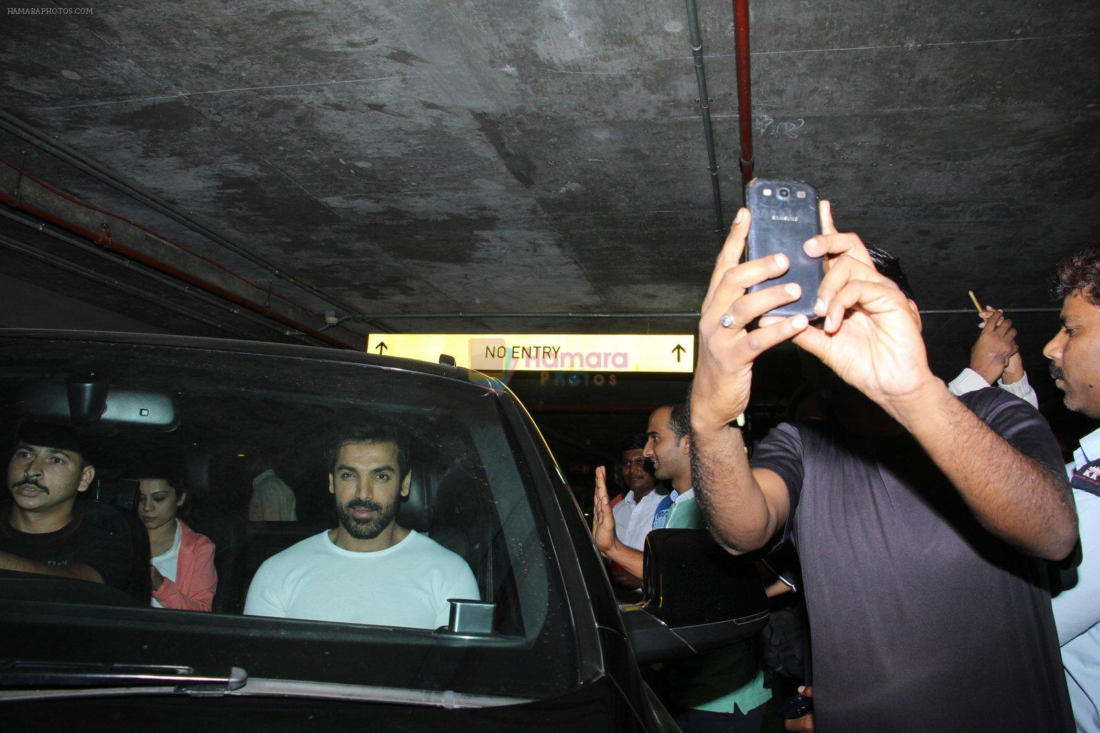 John Abraham snapped at airport on 16th Nov 2016