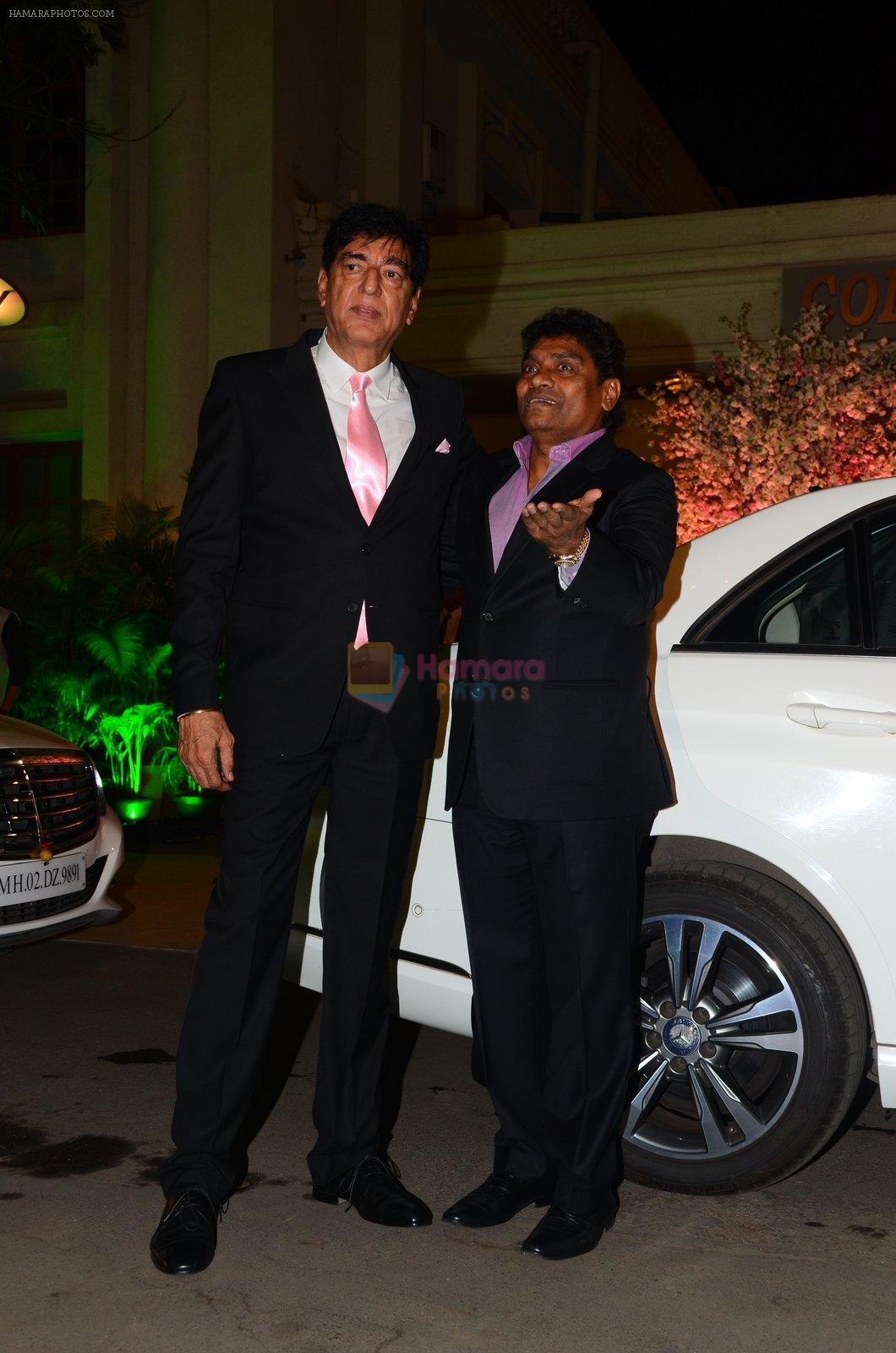 Johnny Lever at Wedding reception of stylist Shaina Nath daughter of Rakesh Nath on 17th Nov 2016