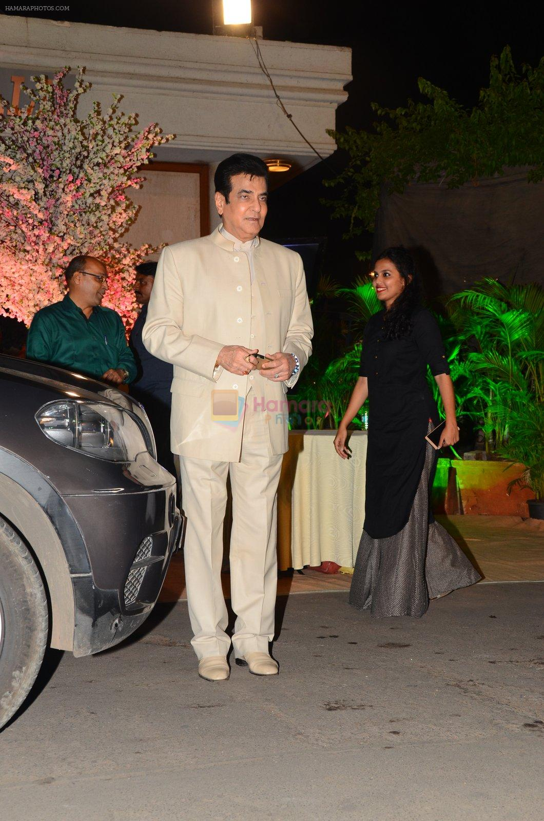 Jeetendra at Wedding reception of stylist Shaina Nath daughter of Rakesh Nath on 17th Nov 2016