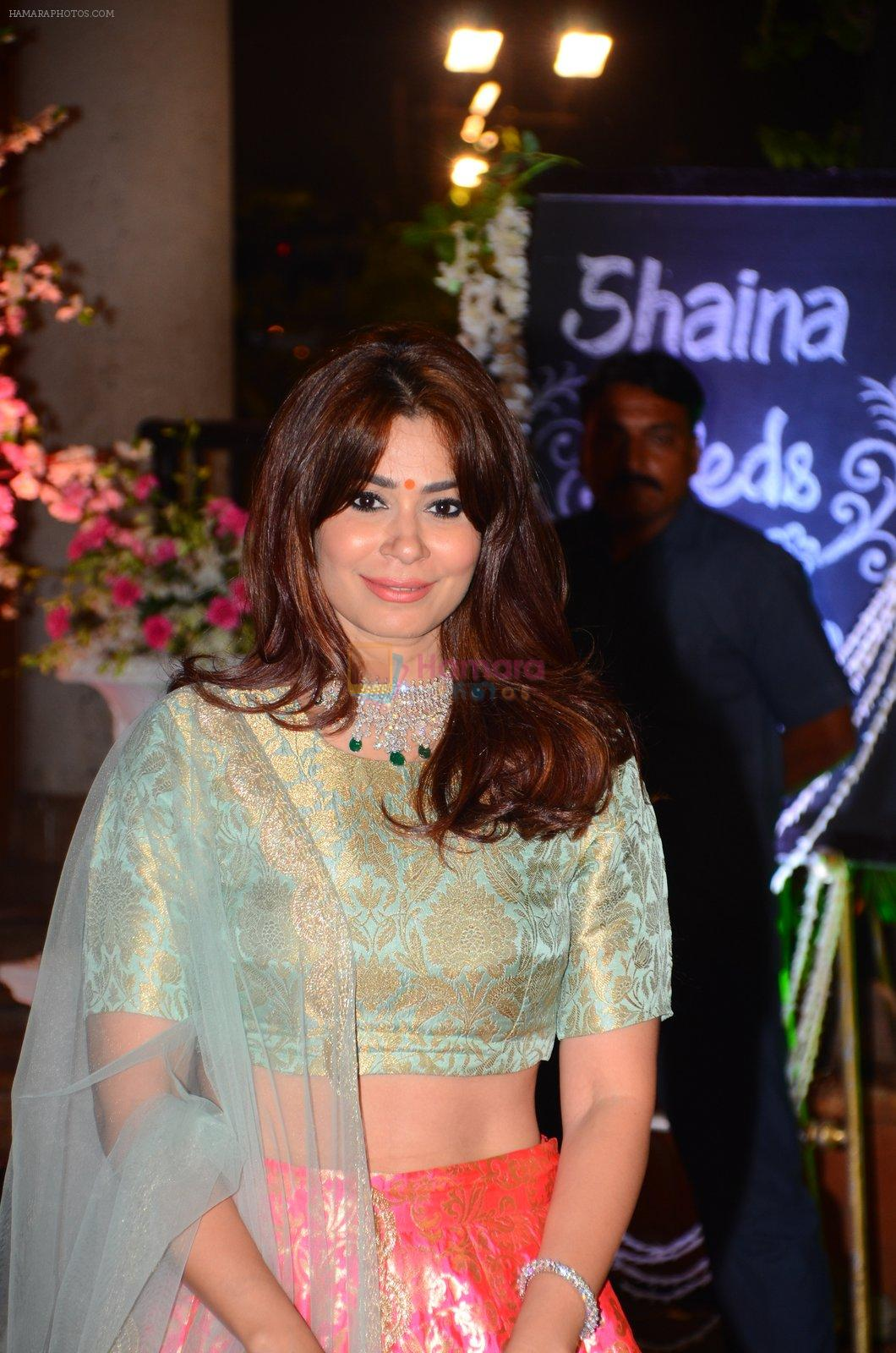Shaheen Abbas at Wedding reception of stylist Shaina Nath daughter of Rakesh Nath on 17th Nov 2016