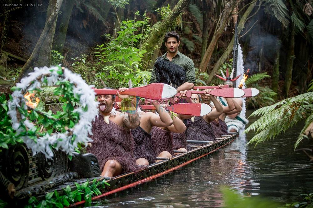Sidharth dons Traditional Maori Cloak in Rotorua, New Zealand 3