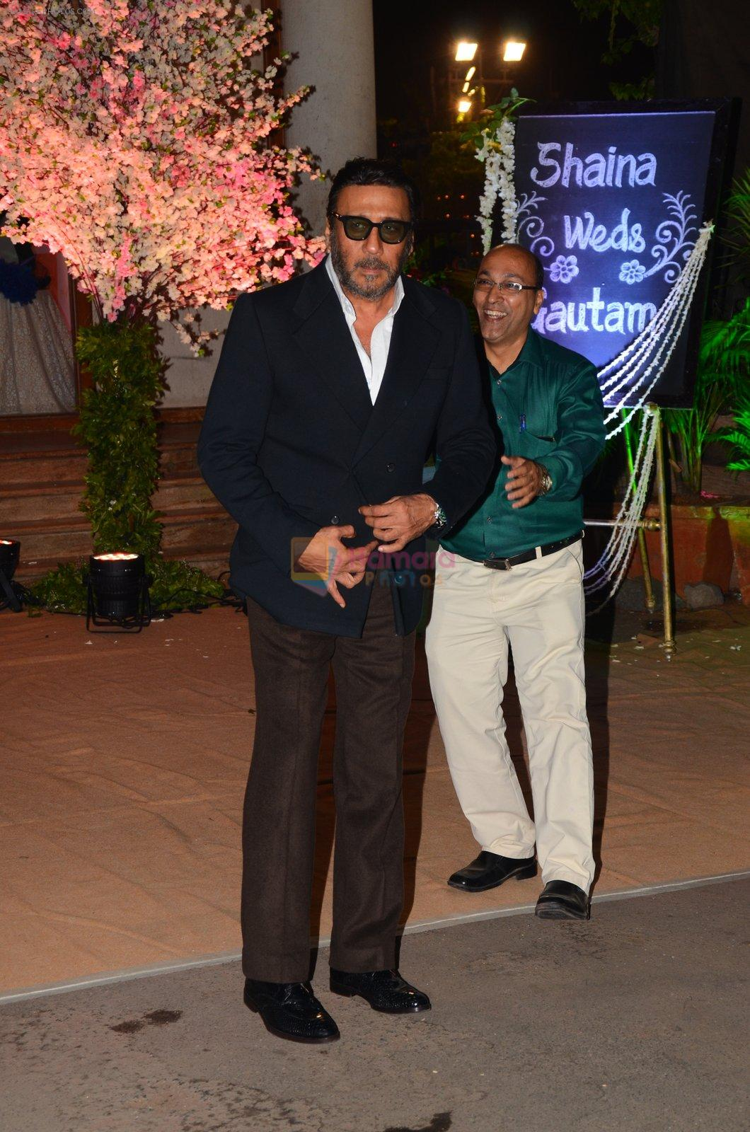 Jackie Shroff at Wedding reception of stylist Shaina Nath daughter of Rakesh Nath on 17th Nov 2016