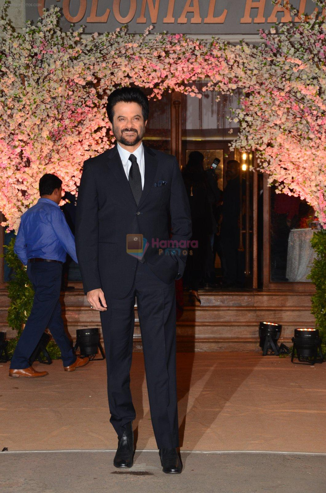 Anil Kapoor at Wedding reception of stylist Shaina Nath daughter of Rakesh Nath on 17th Nov 2016