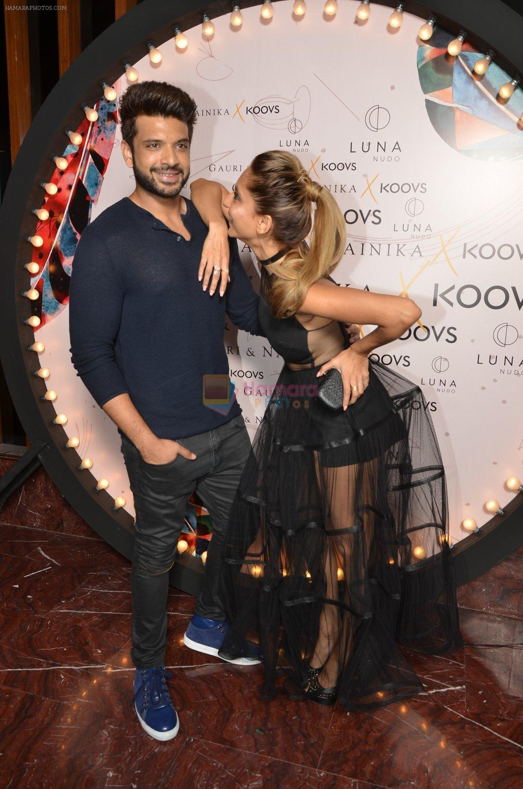 Karan Kundra, Anusha Dandekar at Koovs launch by Gauri and Nainika on 17th Nov 2016