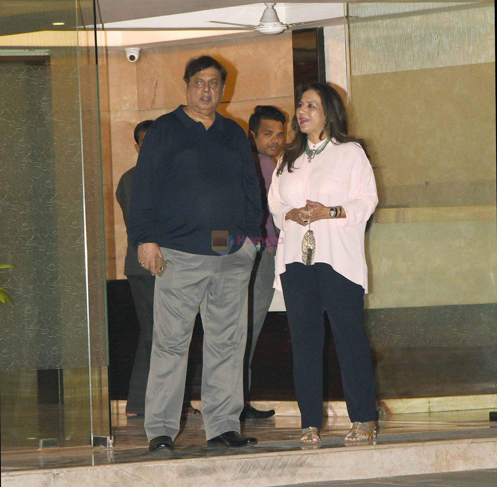 David Dhawan at Arpita Khan anniversary bash in Mumbai on 17th Nov 2016