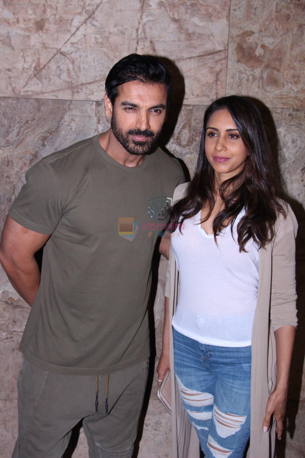 John Abraham with wife Priya Runchal at Force 2 screening in Lightbox on 17th Nov 2016