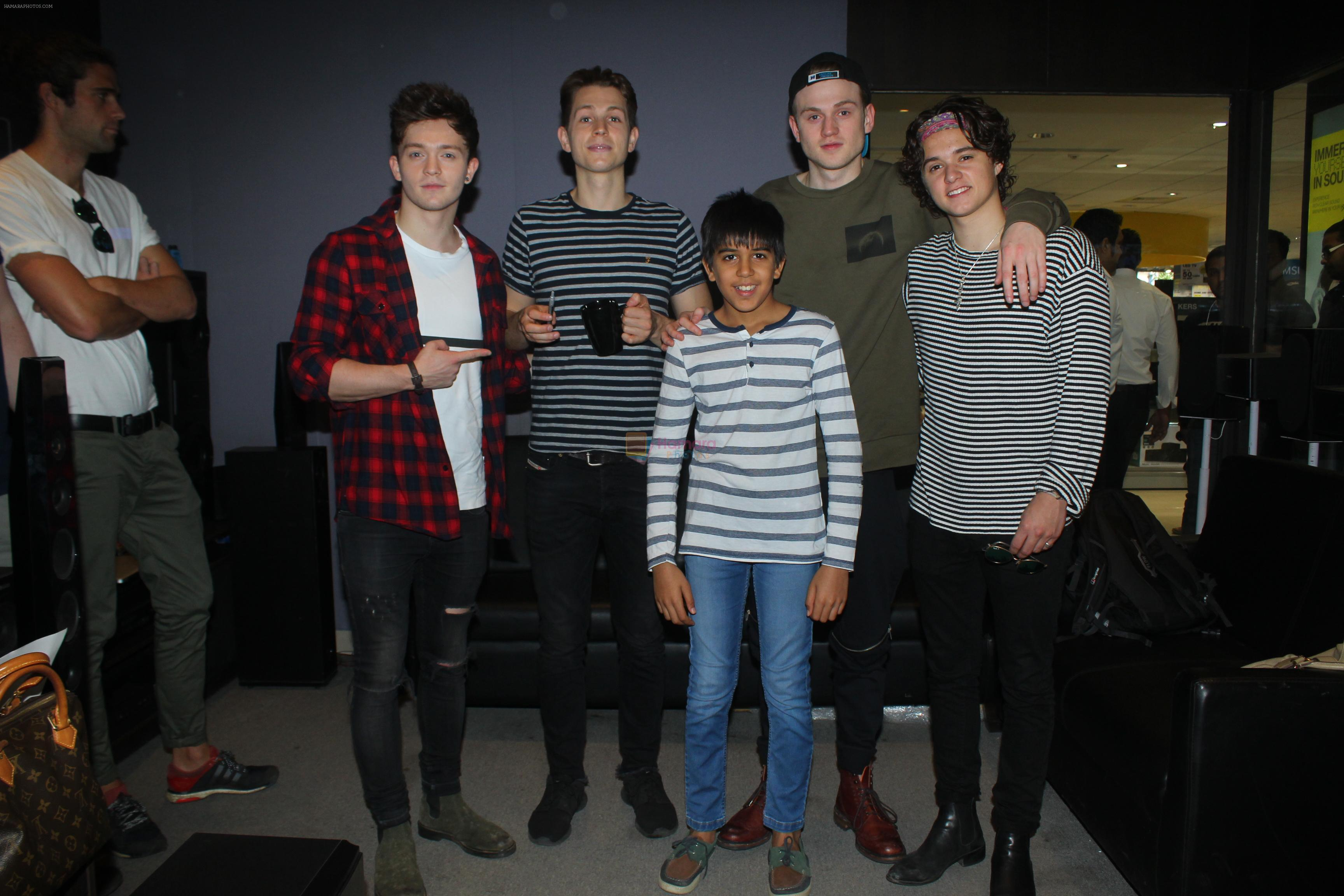 British Boy Band The Vamps met with fans this morning along with Director Farah Khan at Reliance Digital in Bandra on 18th Nov 2016