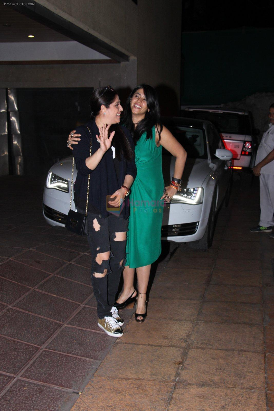 Ekta Kapoor at Tusshar Kapoor's bday Bash in Mumbai on 19th Nov 2016