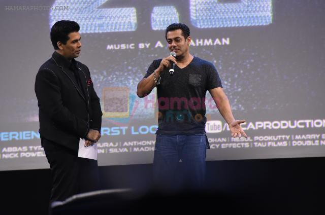Salman Khan, Karan Johar at Robot 2 launch in Mumbai on 19th Nov 2016