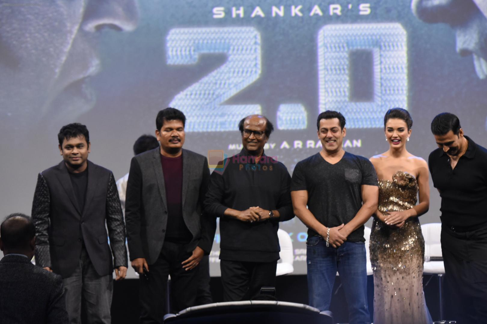 Salman Khan, Karan Johar, A R Rahman at Robot 2 launch in Mumbai on 19th Nov 2016