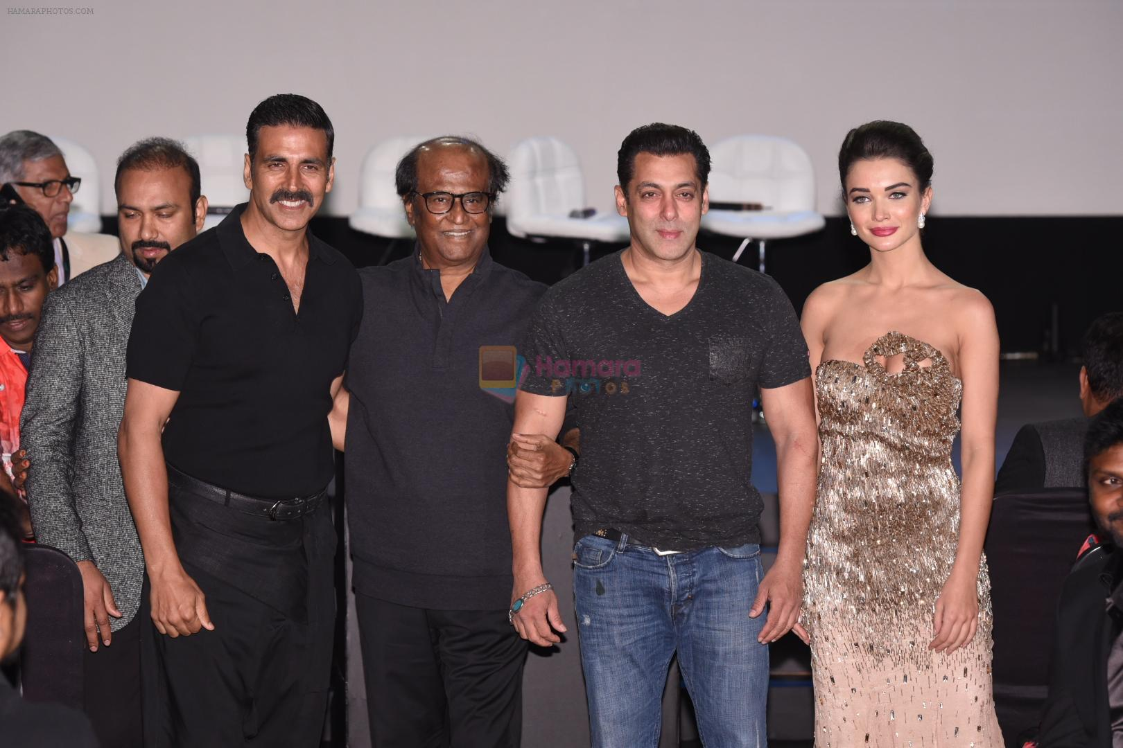 Salman Khan, Akshay Kumar, Rajnikant, Amy Jackson at Robot 2 launch in Mumbai on 19th Nov 2016