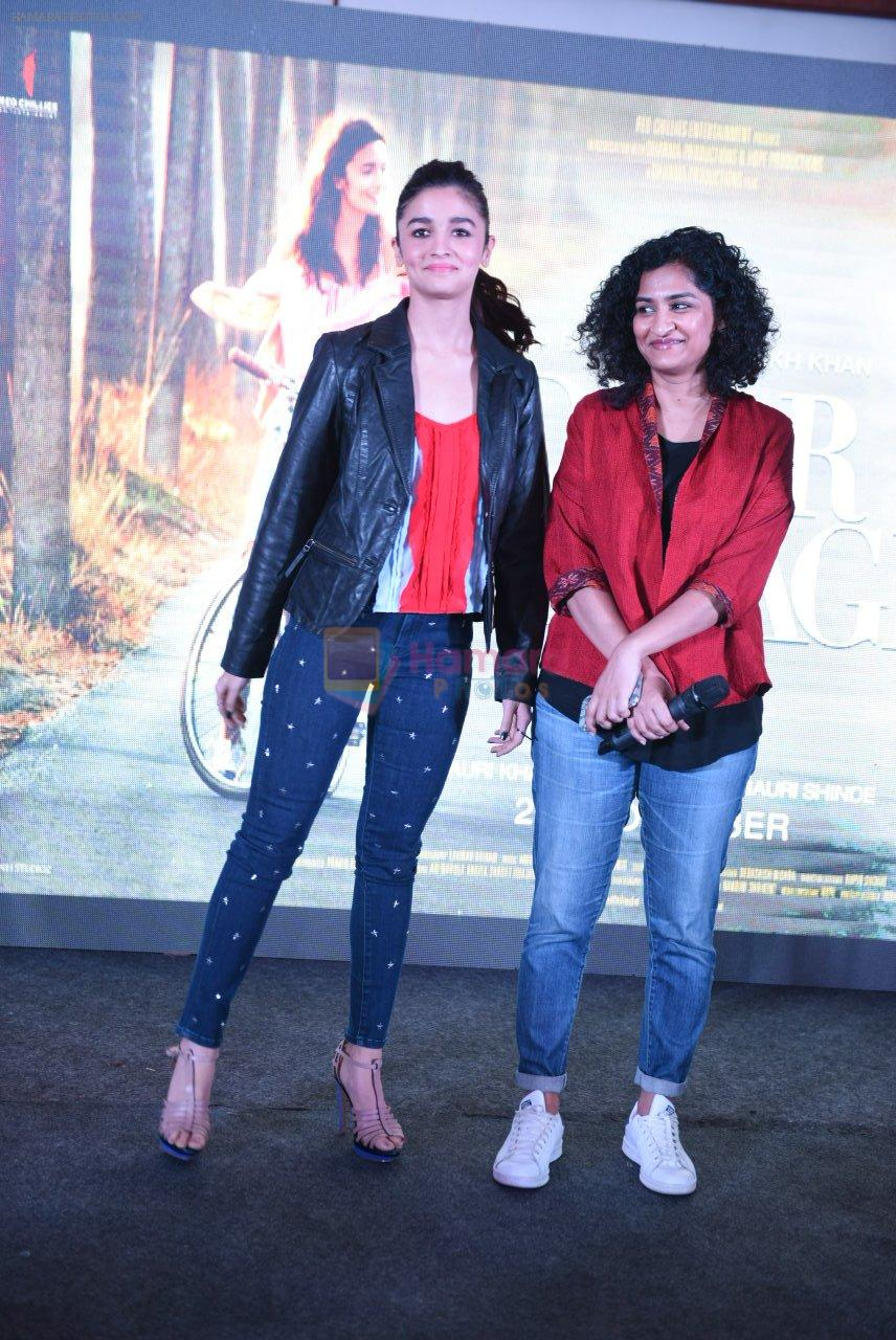 Alia Bhatt, Gauri Shinde at Dear Zindagi press meet on 22nd Nov 2016