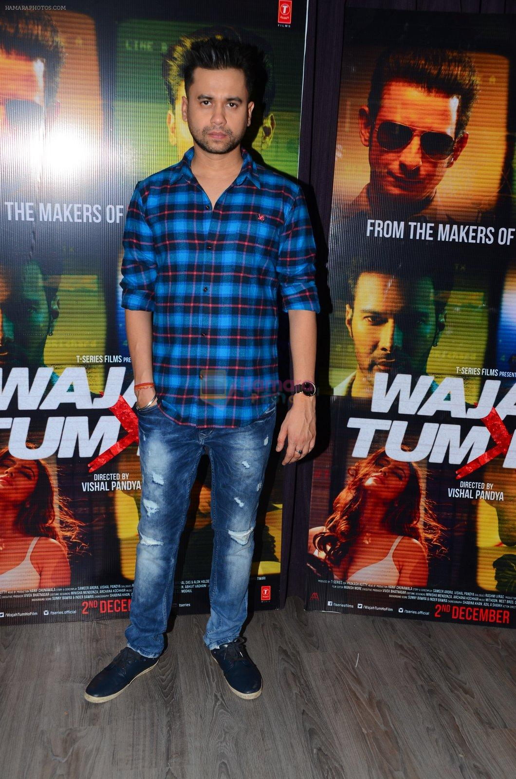 Vishal Pandya at Wajah Tum Ho film promotions in Mumbai on 22nd Nov 2016