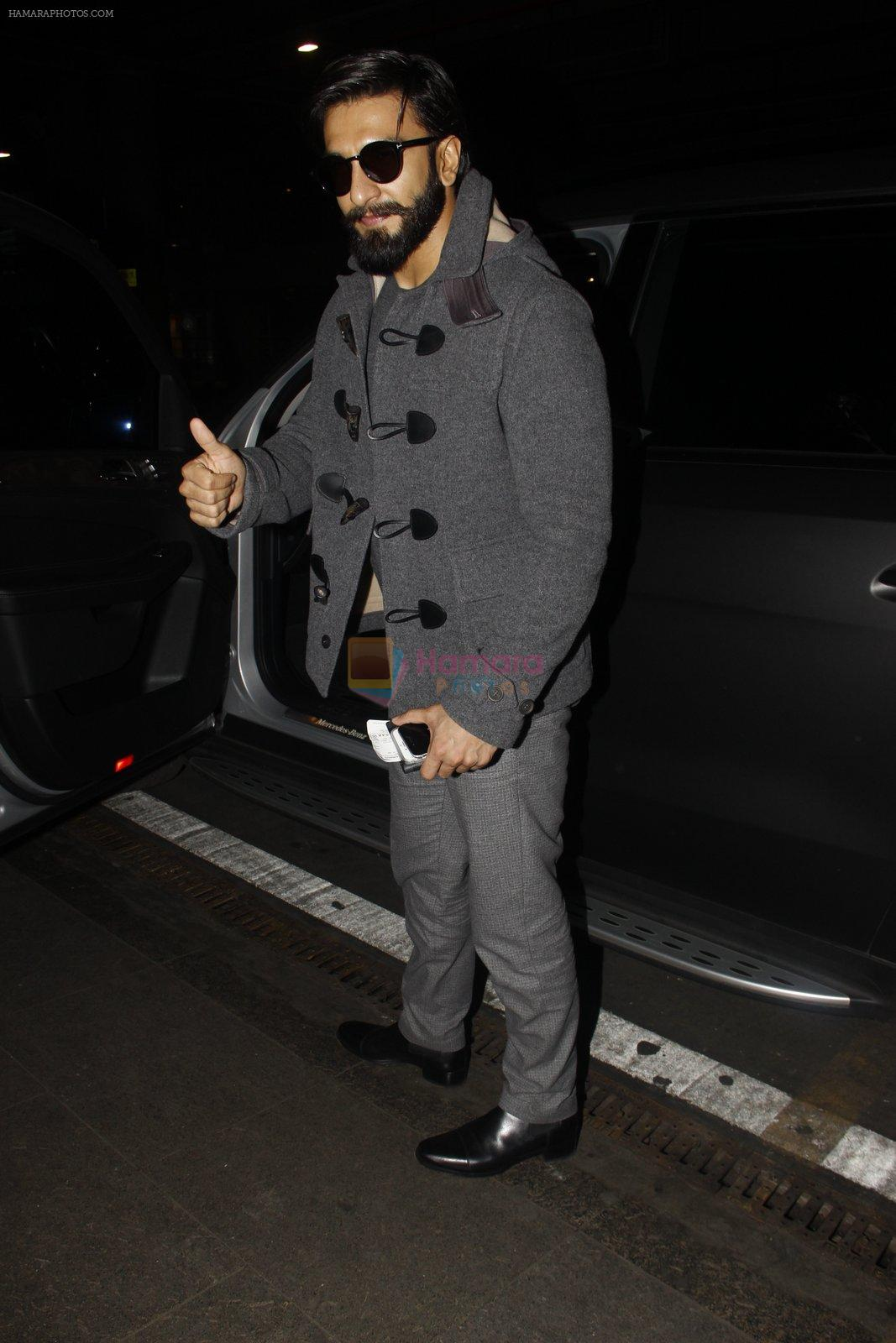 Ranveer Singh returns from UK on 22nd Nov 2016