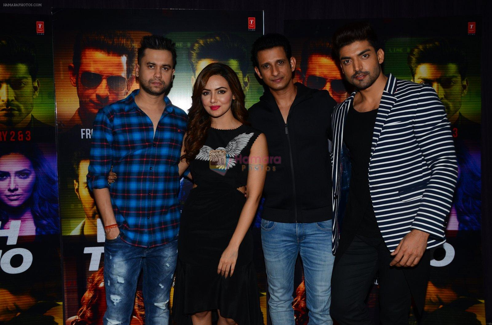 Sana Khan, Gurmeet Choudhary, Sharman Joshi, Vishal Pandya at Wajah Tum Ho film promotions in Mumbai on 22nd Nov 2016