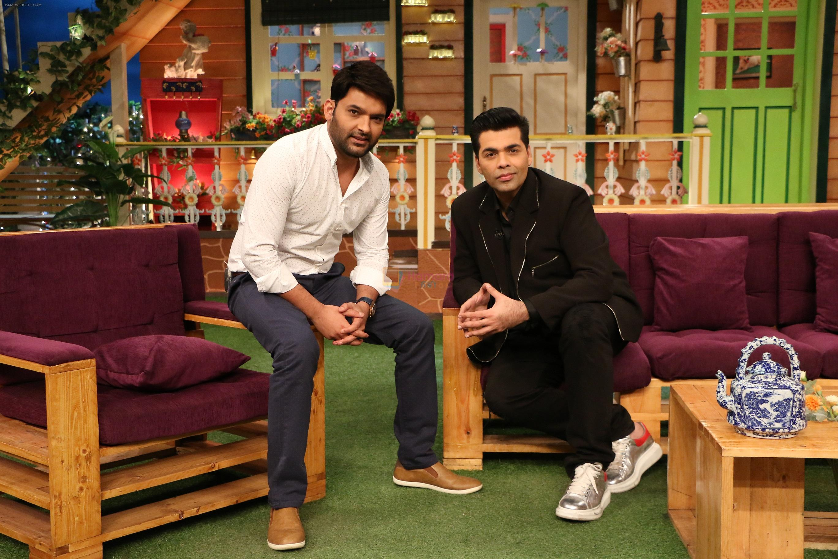 Karan Johar on the sets of The Kapil Sharma Show on 22nd Nov 2016