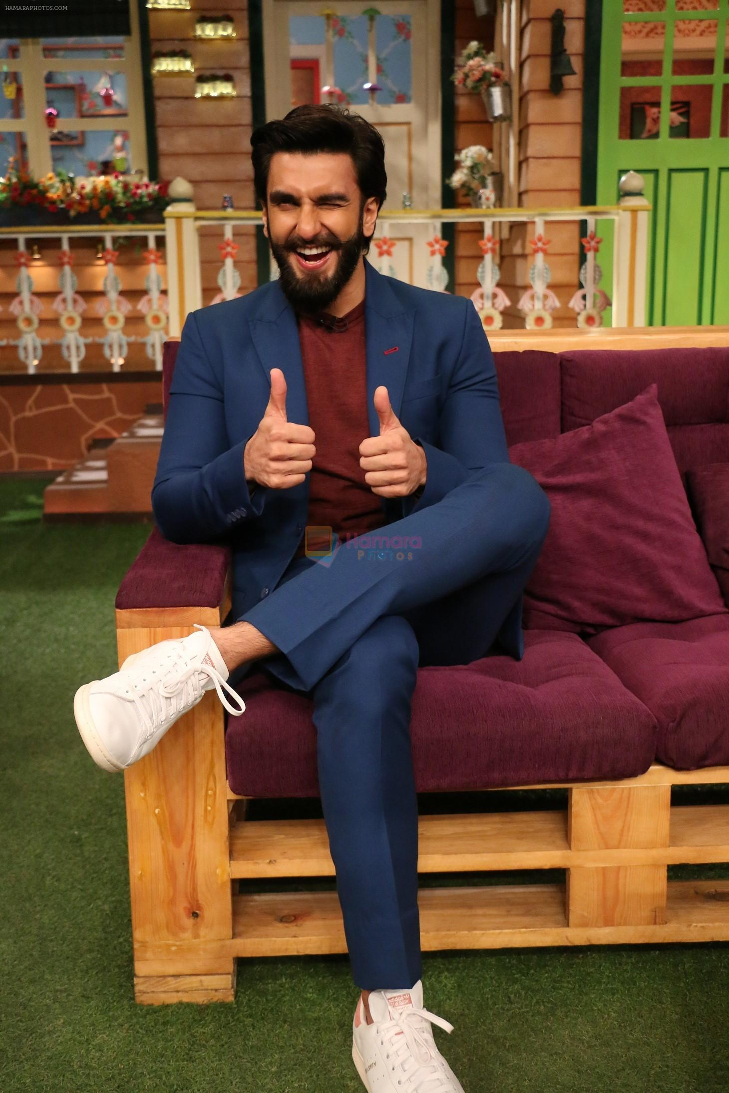 Ranveer Singh on the sets of The Kapil Sharma Show on 23rd Nov 2016